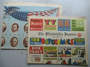 Philadelphia Inquirer COMPLETE Comics Section January 12, 1969 + Presidents