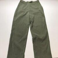 Norton Mcnaughton Petites Sz 10P Olive Green Velvet Pants A774