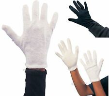 100% Cotton Ladies Mens Kids children White Black Captain Clown Magician Gloves
