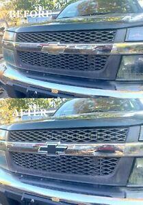 Black Textured Front Grille Bowtie Emblem Badge Fits Chevy Colorado 2004-2012