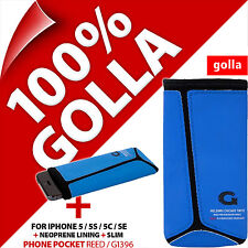 Golla Blue/Black Slim Phone Case Sleeve Pouch Bag for Apple iPhone 5 5S 5C SE