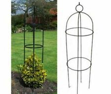 Kingfisher Black Steel Round Ornamental Garden Obelisk Plant Support (1.9m) NEW