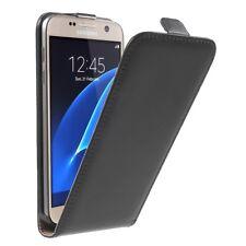 Samsung Galaxy S7 Handy Tasche Magnet Echt Leder Klapp Etui Schutz Hülle Schwarz