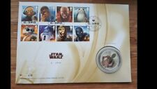 Royal Mail Limited edition 750-Star Wars C3PO Silver Proof Medal/Coin- 410/750