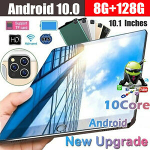 "10"" Inch Android 10.0 Tablet PC 128GB Octa Core Dual SIM Camera GPS Phablet"