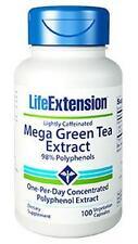 THREE BOTTLES $17.50 Life Extension Mega Green Tea Extract lightly caffeinated