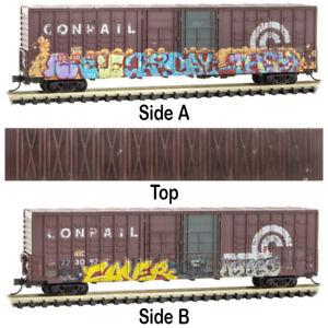 Micro-Trains MTL N-Scale 60ft Box Car Conrail/CR Graffiti & Weathered #223092
