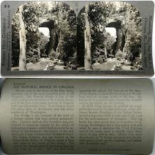 Keystone Stereoview of NATURAL BRIDGE, VIRGINIA From Popular 600/1200 Card Set A