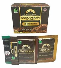 1 BOX Coffee King Premium Black Ganoderma Coffee 30 Sachets+4 FREE Samples