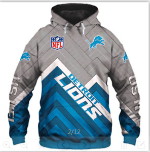 Detroit Lions Men's Pullover Hoodies Hooded Sweatshirts Casual Jackets Fans Gift
