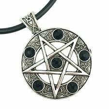 Pagan pentagram necklace celtic protection witch wicca pagan gothic pentacle
