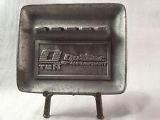 Quasar Cast Aluminum Cigarette Ash Tray Advertising Motorola TV Anniversary 1977