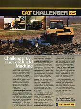 1987 CAT Caterpillar Challenger 65 Mobil-trac Tractor Print Ad