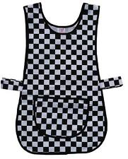 Tabard / Tabbard Apron - Catering, Cleaning, Work, Black & White Checked - Large