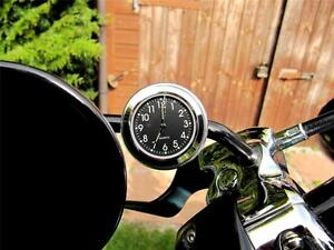 New 10mm Mirror-Mate Motorcycle Mirror Stem Clock - Harley®, Enfield, Classic
