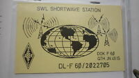 OLD VINTAGE QSL HAM RADIO CARD POSTCARD, BICKENBACK WEST GERMANY