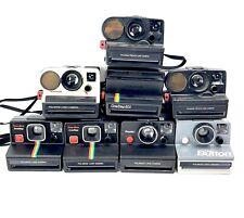 Lot of 8 Polaroid Cameras Mixed Models 7 Motor Tested 1 Failed