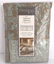 "NEW Croscill Home VIVIAN Tailored Window Valance 88"" x 15"" Blue/Green/Brown"