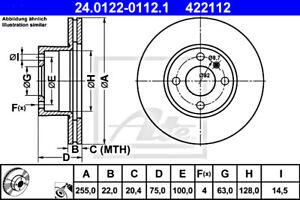 2x Brake Disc ATE Fits BMW E21 34111163126