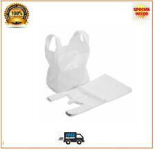 White Plastic Carrier Bags Strong Vest Bags Shops Stalls Supermarkets All Sizes