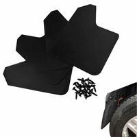 4Pcs Car Mud Flaps Black Splash Guards Universal with 20Pcs Fastener Rivet Clips