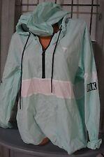 Victoria's Secret love pink sweatshirt hoodie jacket anorak windbreaker M/L