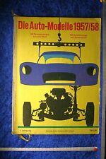Auto Modelle Katalog Autokatalog 1957/58  Nr. 1 mit original Lesezeichen