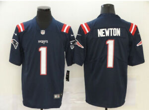 New Cam Newton #1 New England Patriots Game Jersey Navy Mens NWT M/L