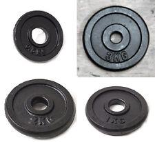 """2 x 3kg & 2 x 2kg Weight Discs (4), Cast Iron 1"""" hole Plates (10kg)"""
