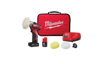 Milwaukee 2438-22X M12 FUEL Variable Speed Buffer Polisher Kit W/ 2 Batteries