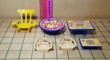 Doll House Furniture LOT OF 6 Vintage Blue Box Fits Fisher Price Little People