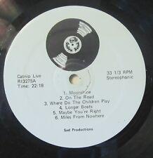 CAT STEVENS LP: CATNIP LIVE Contra Band RI3275 black vinyl, 1972 unofficial