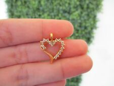 .51 Carat Diamond Yellow Gold Heart Pendant 10k codePx05 sepvergara