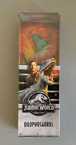 "Mattel Jurassic World Fallen Kingdom Dilophosaurus Dinosaur Figure 12""  OPEN BOX"