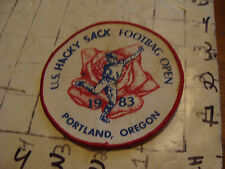 Vintage PATCH, US HACKY SACK FOOTBAG OPEN portland oregon 1983  VERY SCARCE