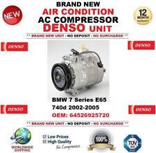 DENSO ARIA CONDIZIONATA COMPRESSORE AC BMW SERIE 7 E65 740d 2002-2005