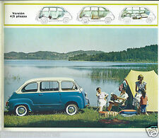 Fiat 600D Multipla + Transformable 1960's Brochure Spanish Language #2375