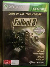 FALLOUT 3 GAME OF THE YEAR GOTY XBOX 360 AUS PAL & XBOX ONE BACKWARDS COMPATIBLE