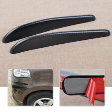 New 2pcs 32.5cm Carbon Fiber Bumper Edge Spoiler Scratch Protector Strip Sticker
