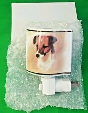 Robert J May Jack Russell Terrier Dog Ceramic Night Light New