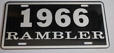 METAL LICENSE PLATE 1966 66 RAMBLER NASH AMC AMERICAN MOTORS 660 440