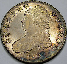 1821 O-104 Capped Bust Half Dollar Abt. AU... Nice Rim Toning, & A Neat Variety!