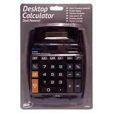 Jumbo Desktop Calculator Big Buttons Solar Battery Memory Office School UK