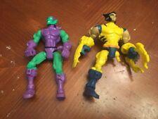 Marvel Super Hero Mashers GREEN GOBLIN Figure Hasbro 2014 + Wolverine Parts