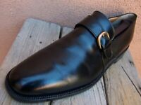 COLE HAAN Mens Dress Shoes Black Leather Slip On Italian Buckle Loafer Size 12B