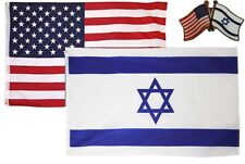Wholesale Combo Usa & Israel Country 3x5 3'x5' Flag & Friendship Lapel Pin