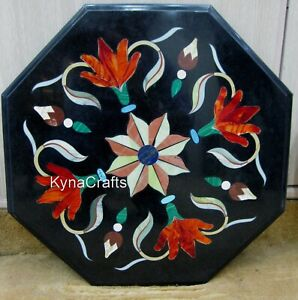 12 Inches Marble Coffee Table Top Pietra Dura Art Corner Table from Heritage Art