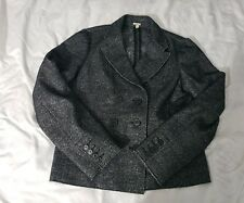 J.Crew Gray Marled Thandie Blazer Size 12 Charcoal Jacket 29305 Cotton Wool