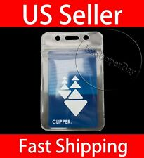 2 PCS ID Card Holder Clear Plastic Badge Resealable Waterproof Business Case USA