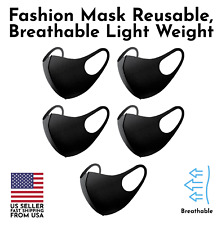 Set of 5 Fashion 3D Face Mask Washable Reusable Breathable Ship US Unisex